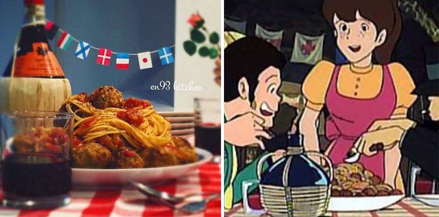 Spaghetti Meatballs From The Castle Of Cagliostro