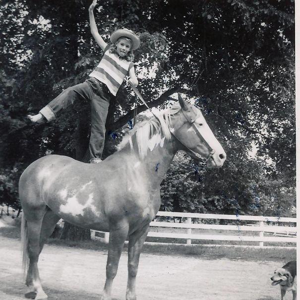 My Grandma On Her Horse