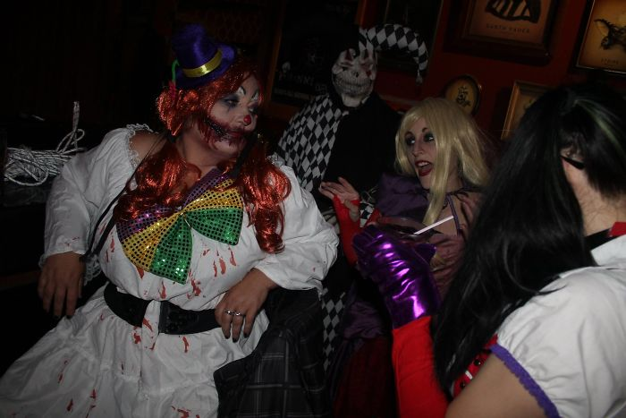 Me At The First Halloween Party I Have Been To In 20+ Years……..doing The Creepy Clown Was So Much Fun!