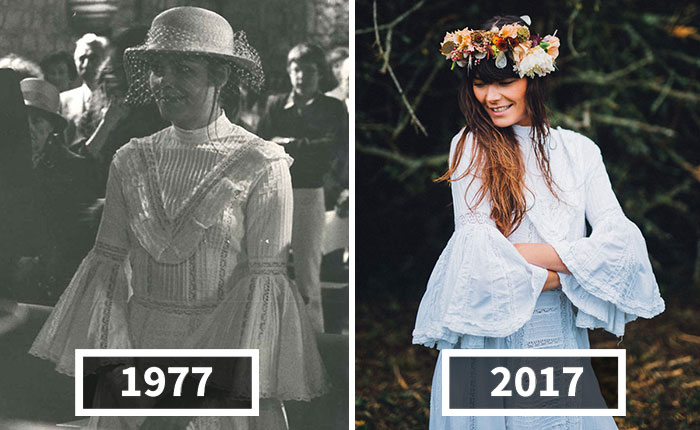 40 Years Later, Daughter Decides To Give Her Mother's Wedding Dress A Second Life