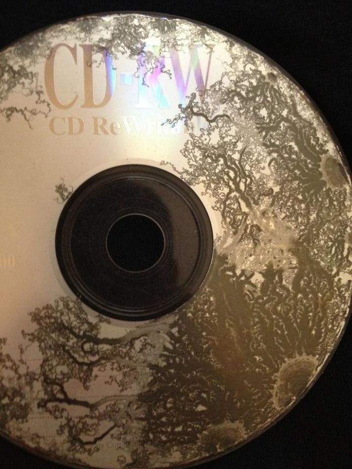 I Left This CD Sitting In My Car For Over A Year. The Sun Made This Crazy Design On It