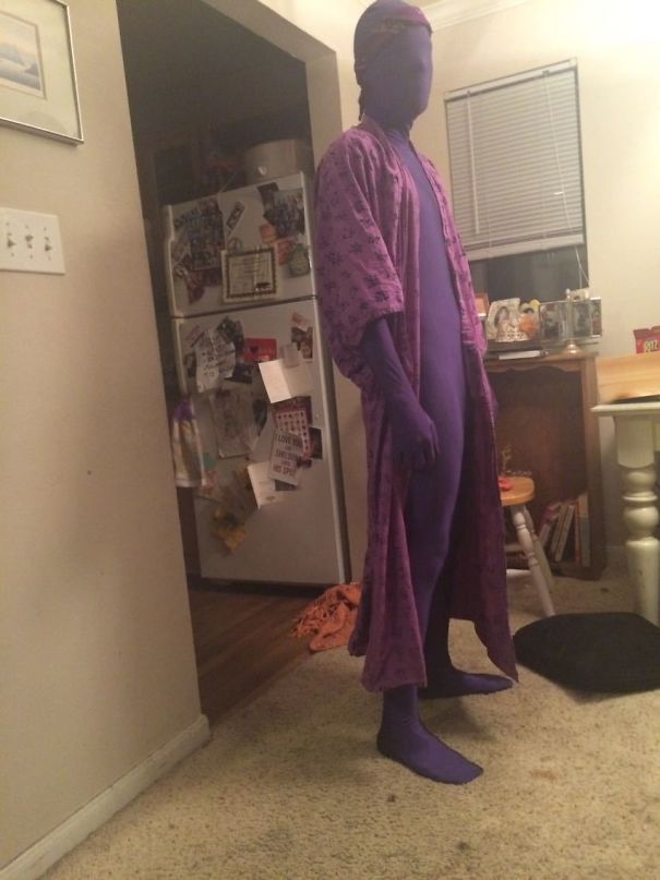 So I Told My Boyfriend He Looks Good In Purple, And He Goes To The Bathroom And Comes Back In This