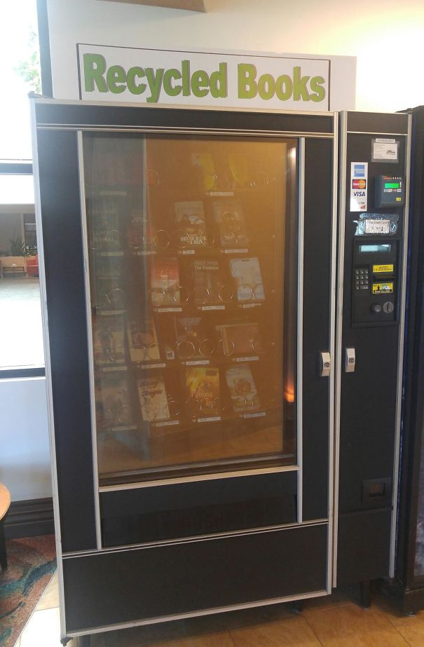 My Local Airport Has A Vending Machine For Used Books