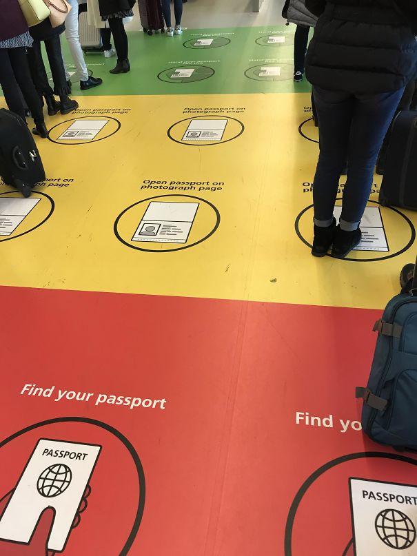 Copenhagen Airport Passport Control Floor