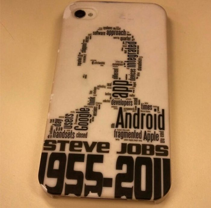 The Biggest Word On Steve Jobs Iphone Case Is Android...🤔