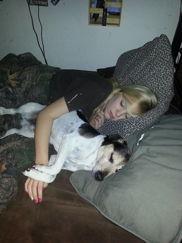 Left The Room For About 10 Minutes, Came Back And Found My Dog And My Girlfriend Like This