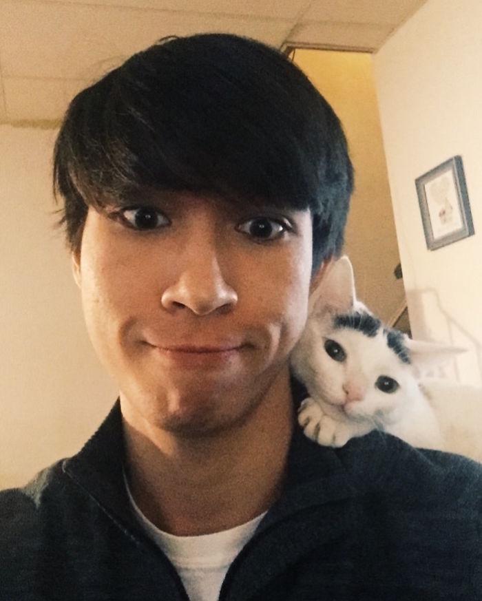 Mein Freund und unsere Katze...