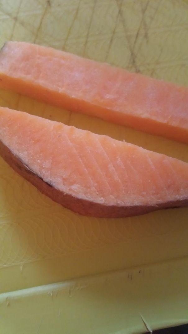 My Sweet Potato Looks Like Salmon