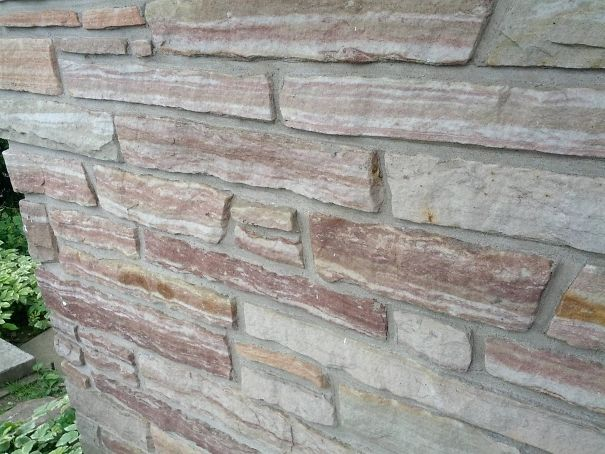 The Bricks On This Wall Look Like Strips Of Bacon