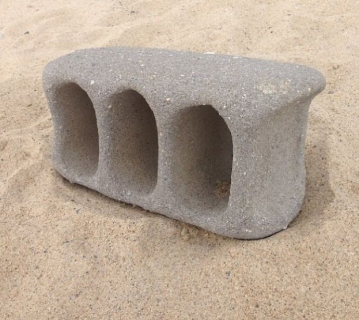 A Cinderblock That Washed Up On The Beach After A Bit Of Time Tumbling Around In The Ocean Currents