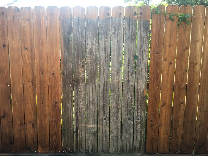 Wife Suggested I Power Wash The Fence. For Some Reason I Was Not Prepared For The Difference