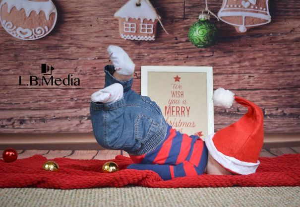 My Friend's Child During A Christmas Card Photo Shoot