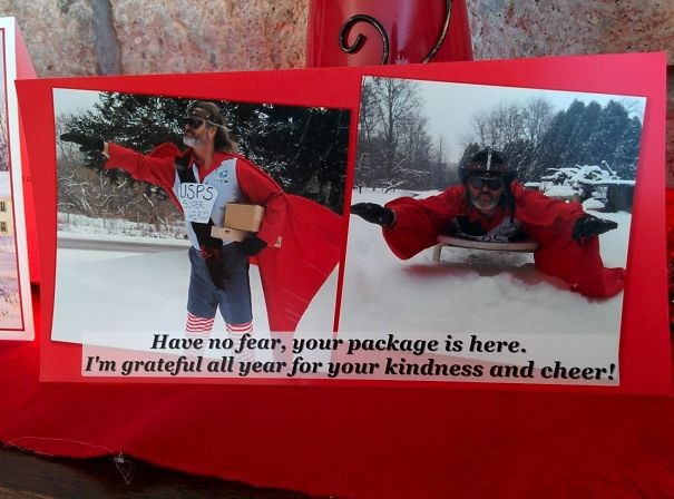 Grandma Got This Christmas Card From Her Mailman