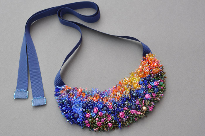 Beaded Coral Reefs And Meadows: Creative Jewelry By Elizaveta Sorensen