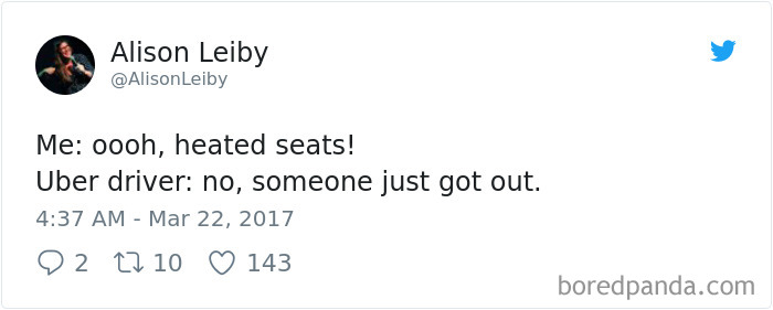 Heated Seats, Oh Wait