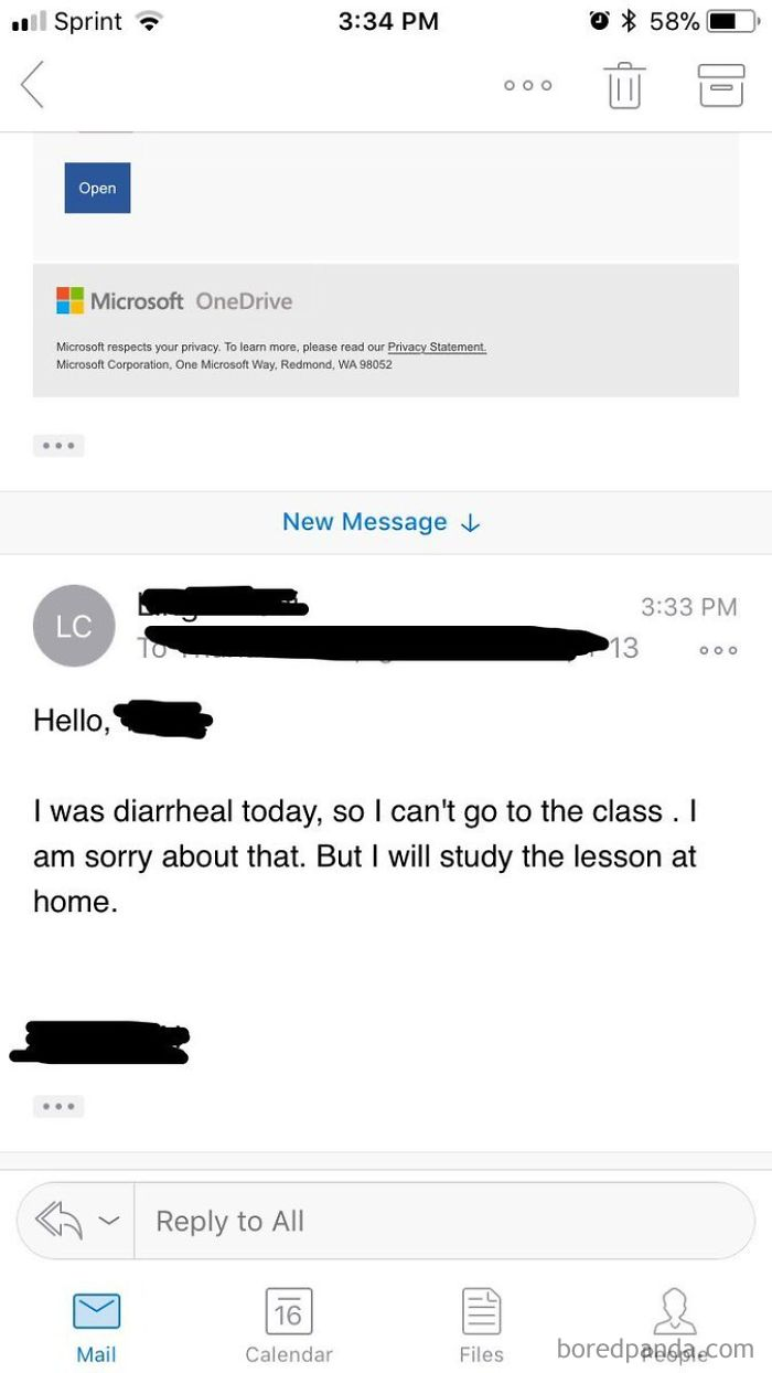 Someone Meant To Just Email My Professor And Accidentally Sent It To Our Whole Class. No One Will Ever Be Able To Look At Them The Same