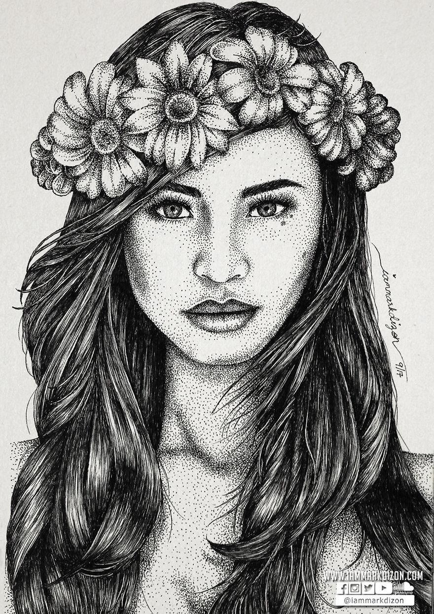 Hundred Thousand Dots And The Result Are Amazing Portraits!