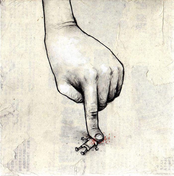 Dram The Sarcastic Illustrator Who Makes You See Life As It Is, 20 спорных иллюстраций от французской Banksy, которая заставит вас подумать