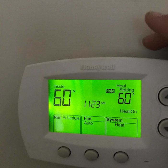 Wife Needs To Keep The House A Nice Balmy 60 Degrees To Be Able To Nap For Work...