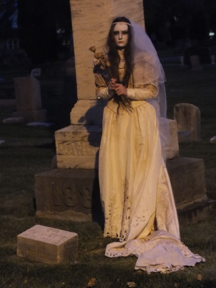 Corpse Bride In The Cemetery On Devils Night