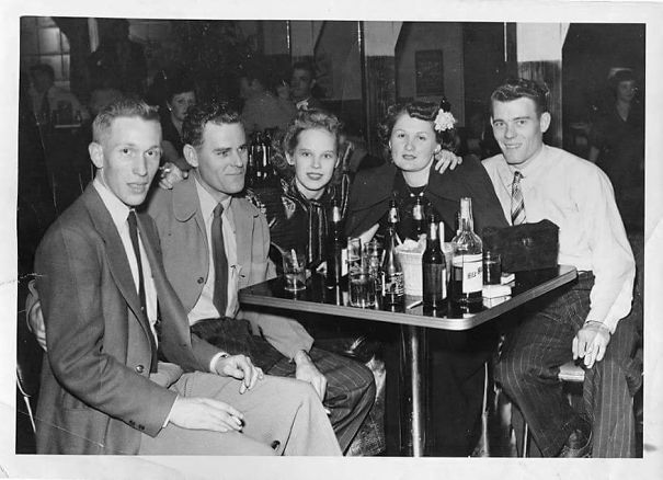 My Very Southern Baptist Non-Drinking Grandparents (The Two On The Right) Circa 1945. I Found This Photo After They Had Both Died.
