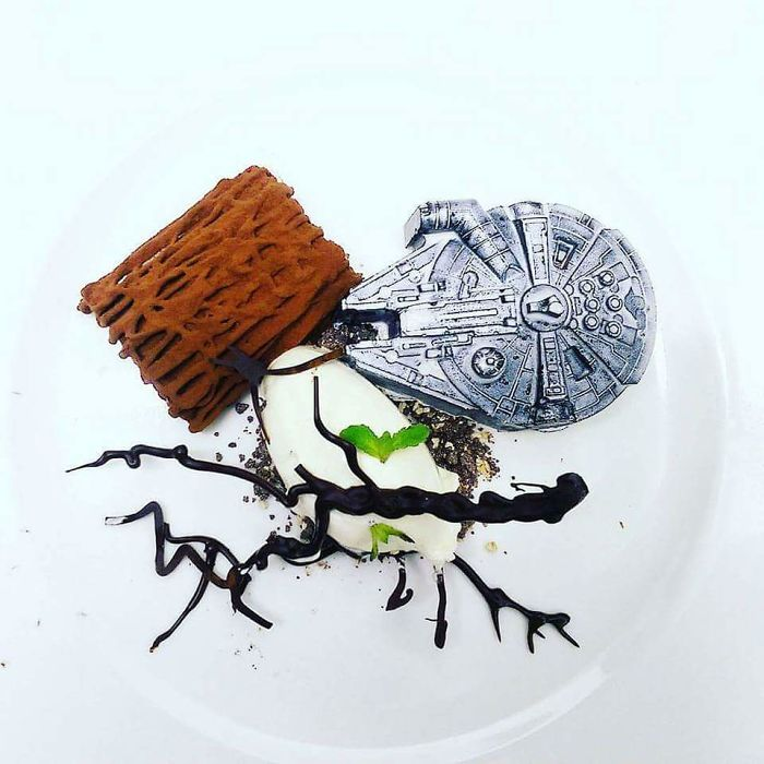 Some Star Wars Themed Desserts, Everything On The Plate Is Edible