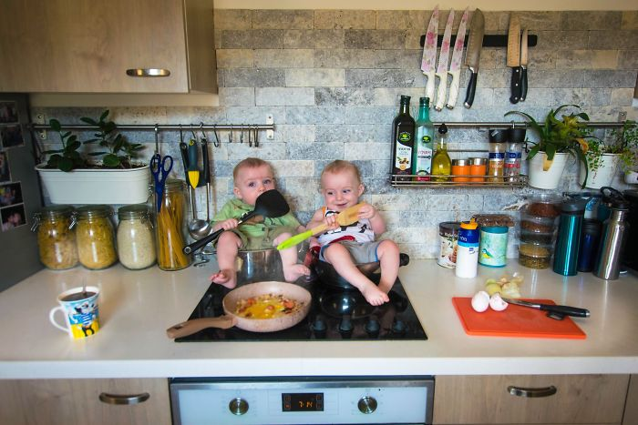 When I Make An Omlet In The Morning, I Have 2 Little Helpers…