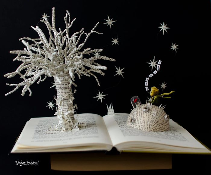 I Make Paper Miniatures And Incorporate Some Of Them To My Book Sculptures