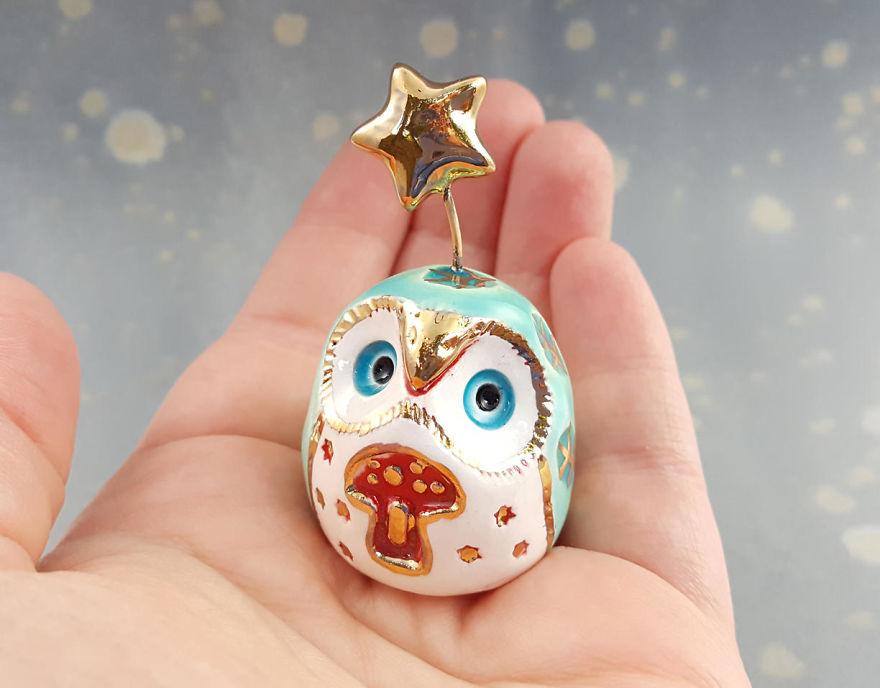 Mushroom Fairy Owl