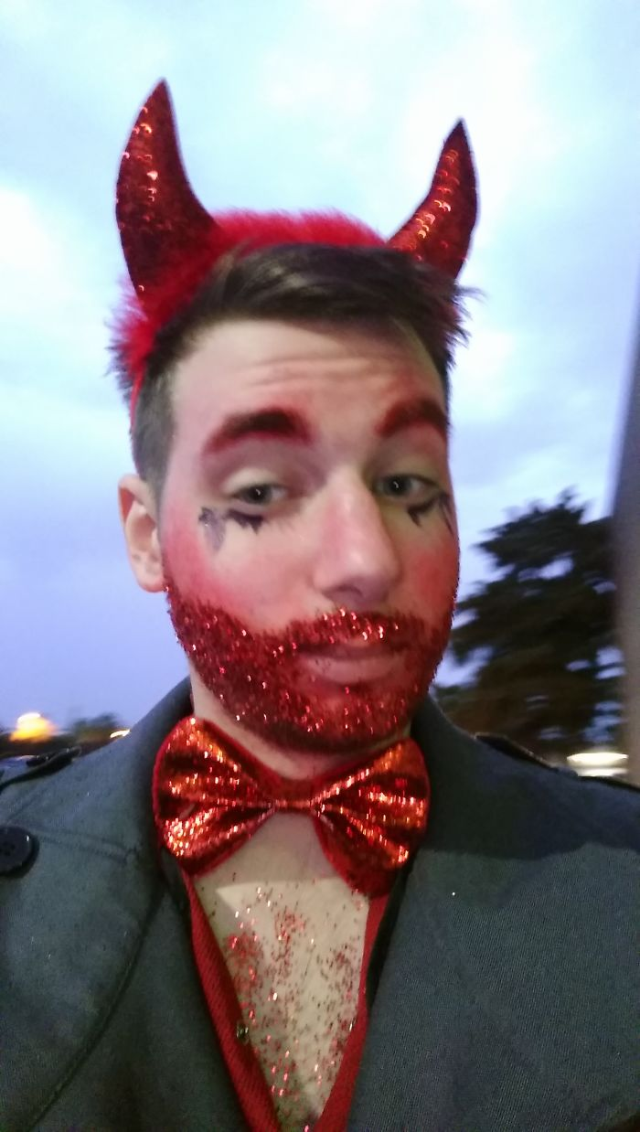 This Halloween I Went As A Handsome Devil