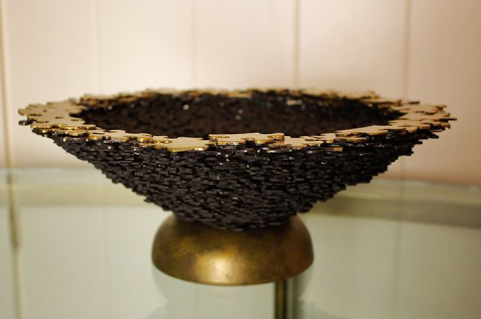 A Bowl Made From Puzzle Pieces Inspired By Charlie And The Chocolate Factory