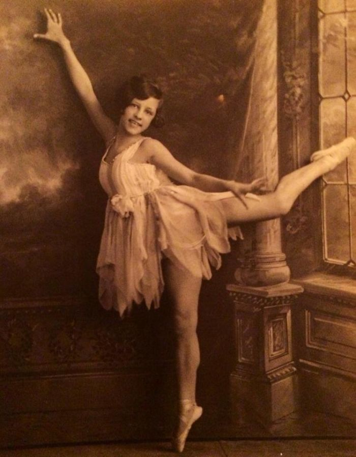 My Nana, Florence Recher – Left Home At 14 To Dance – Ended Up On Stage With Sally Rand In The 30s. This Was Taken Around 1928 Or So.