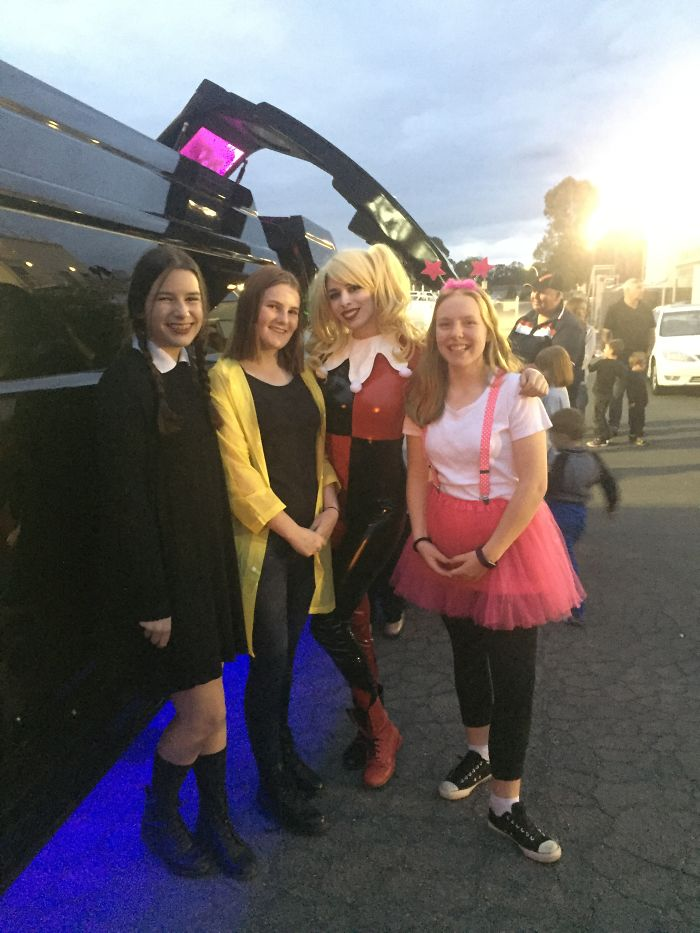 Harley Quinn, Friends And I On Halloween Night, Me On The Left: Wednesday Addams