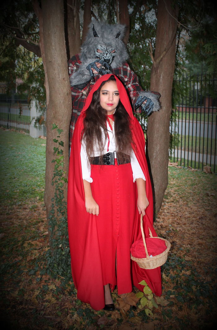 Little Red Riding Hood And The Big Bad Wolf (Father And Daughter)