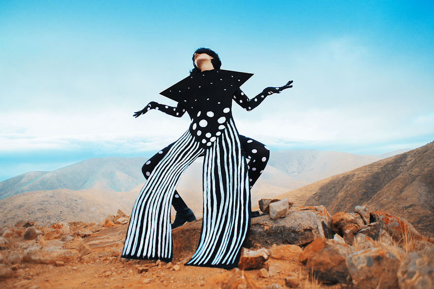 I Made Costumes And Flew To An Island To Make Surreal Space Selfportraits