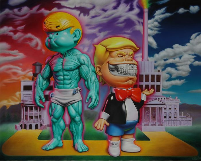 """Ron English Returns To Corey Helford Gallery With """"Toybox: America In The Visuals,"""