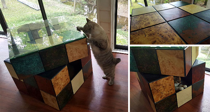 Rubik's Cube Cat Bed