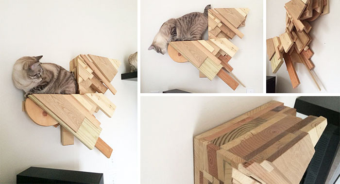 Wood Scrap Cat Steps