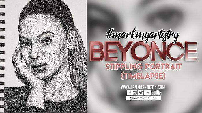 Over 120,000 Dots To Make Up A Beyonce Portrait!
