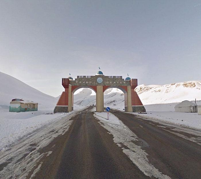 Gate To Talas Oblast, Kyrgyzstan