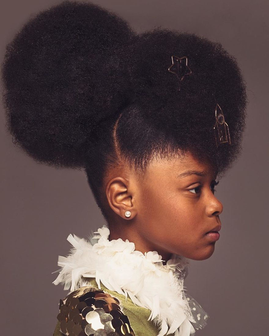 baroque inspired portraits of black girls highlight their amazing