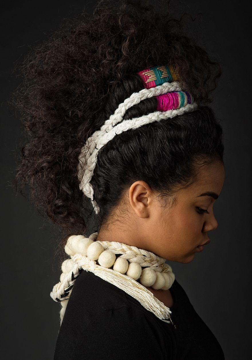 High-Fashion Afro Art Shows Portraits of Girls Rocking ...  |Afro Hair Art