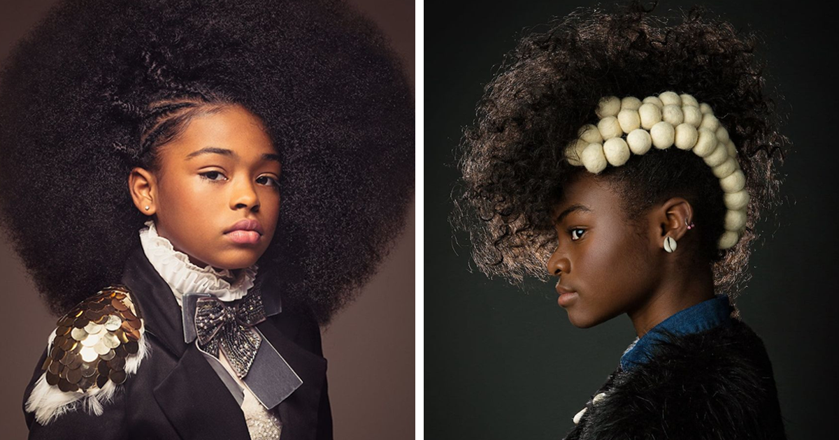 Baroque-Inspired Portraits Of Black Girls Show The Beauty Of Afro Hair