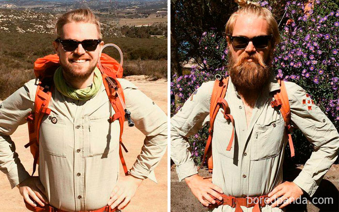 A Friend Of Mine Walked From Mexico To Canada On The Pacific Crest Trail. This Is Him Before And After