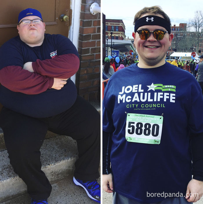 One Year And 200 Pounds Later - I Went From Not Being Able To Stand As A Spectator To Running The Same 10k