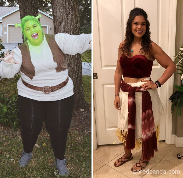 Halloween Transformation, 2015 - Now, From Shrek To Moana