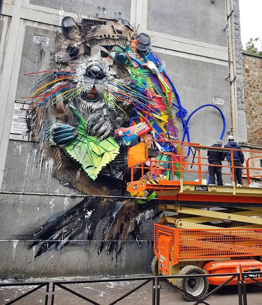 Bordalo II kunst in Parijs
