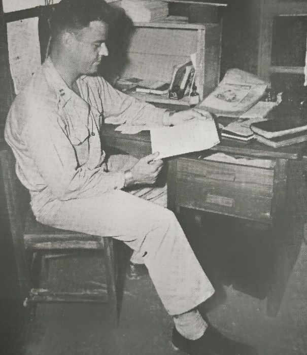 My Grandpa In His Office. He Was An Army Chaplain During Wwii.
