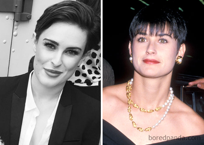Rumer Willis And Demi Moore At Age 27