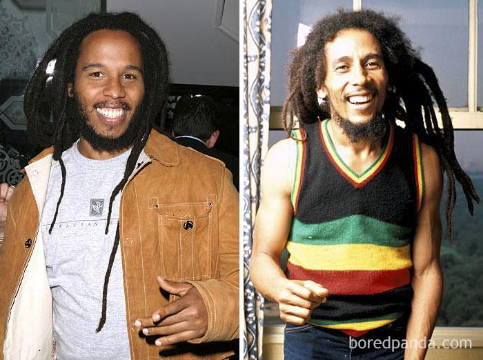 Ziggy Marley And Bob Marley At Age 35